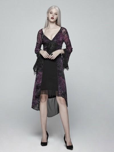 Punk Rave Purple Gothic Goddess Classical Mid-length Dress