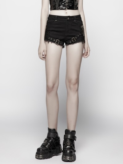 Punk Rave Gothic Punk Steampunk Shorts for Women