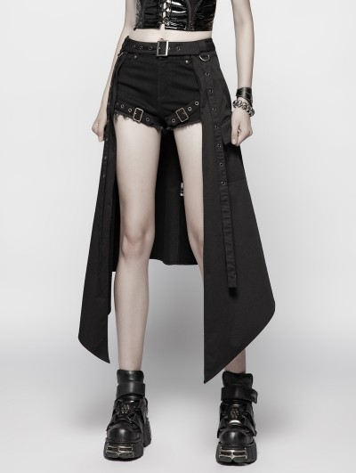 Punk Rave Black Gothic Punk Daily Half Skirt Accessories