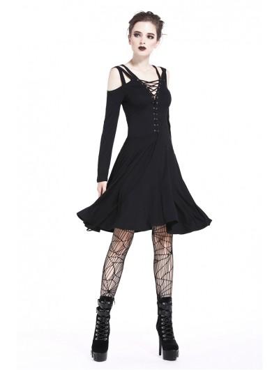 Dark in Love Black Sexy Gothic Punk Strap Short Dress