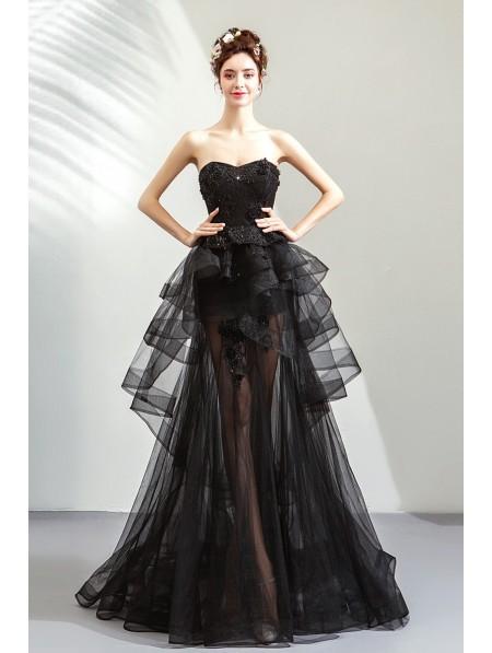 e9485d2238e95 Black Gothic Sexy Lace Mermaid Wedding Dress - DarkinCloset.com