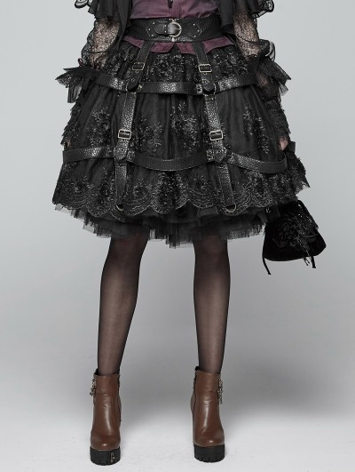 Punk Rave Gothic Steampunk Adjustable Skirt Cover