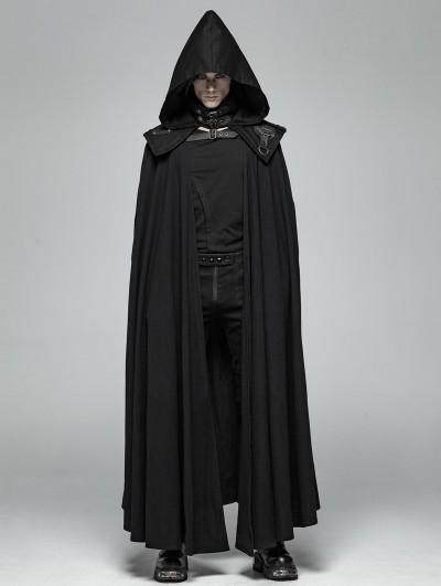 Punk Rave Black Gothic Punk Vampire Detachable Cloak for Men