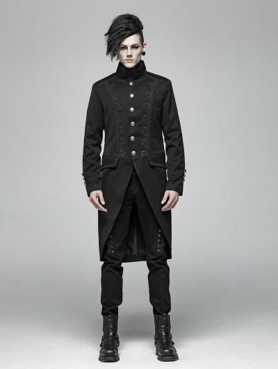 Punk Rave Black Vintage Gothic Tail Coat for Men