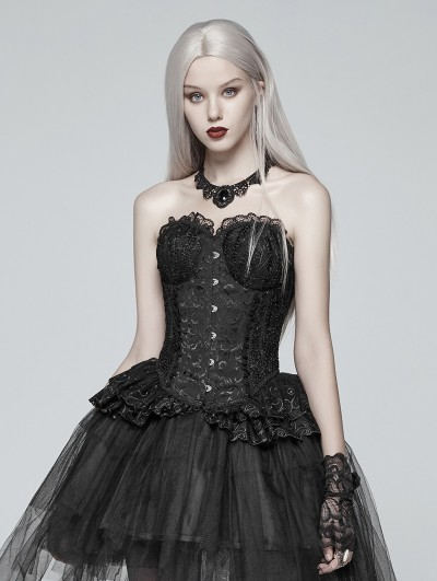 Punk Rave Black Gothic Lolita Lace Elf Corset