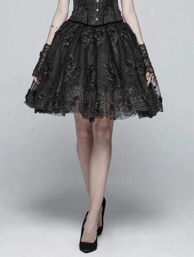 Punk Rave Black Gorgeous Gothic Lolita Half Skirt for Women