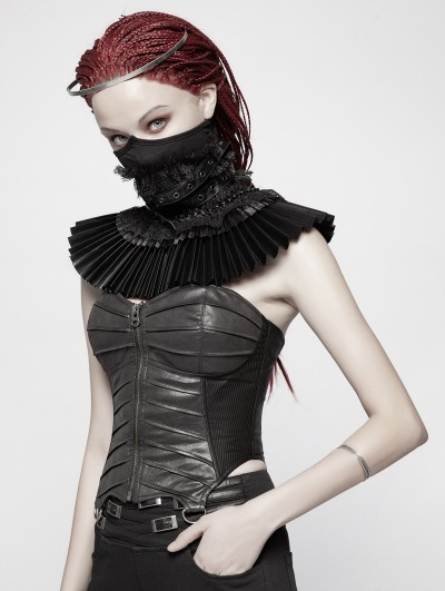 Punk Rave Black Gothic Dark Elizabeth Style Fake Collar