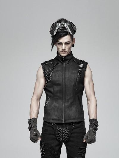Punk Rave Black Gothic Handsome Punk Vest Top for Men