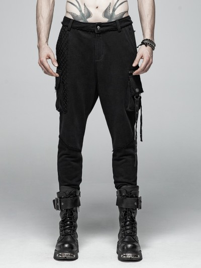 Punk Rave Black Gothic Punk Dark Knit Trousers for Women