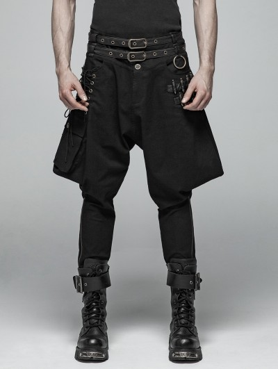 Punk Rave Black Gothic Steampunk Breeches for Men