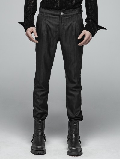 Punk Rave Black Daily Wear Gothic Trousers for Men