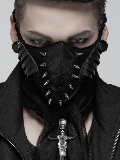 Punk Rave Gothic Punk Rivet Mask for Men