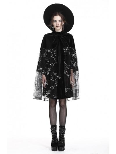 Dark in Love Black Gothic Star Cape/Skirt for Women