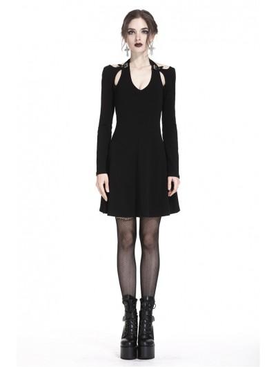 Dark in Love Black Gothic Punk Sexy Short Dress