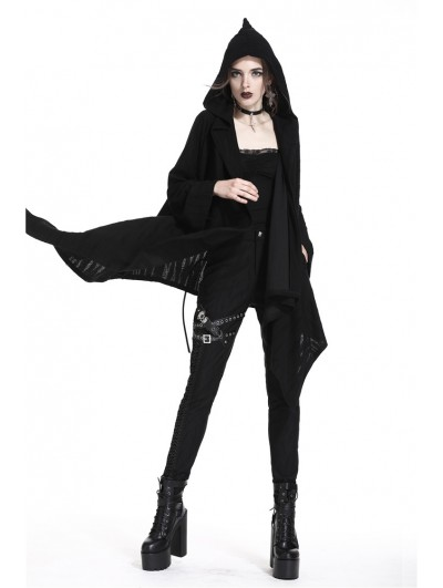 Dark in Love Black Gothic Punk Skull Casual Jacket for Women