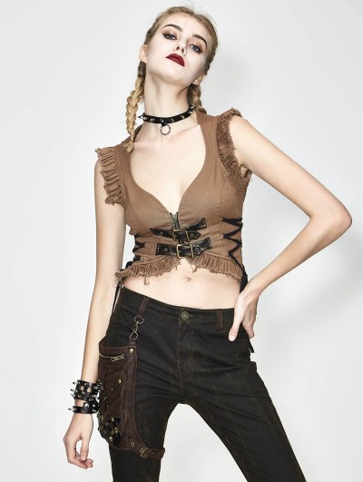 Devil Fashion Do Old Steampunk Sexy Top for Women