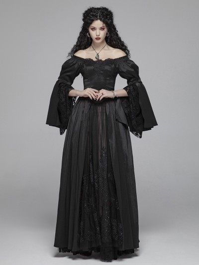 Punk Rave Black Retro Marie Antoinette Gothic Victorian Dress