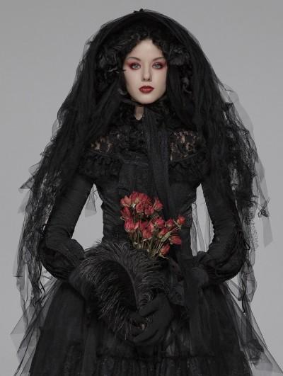 Punk Rave Black Gothic Lolita Dark Hat Headdress