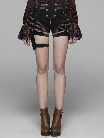 Punk Rave Coffee Steampunk Shorts for Women