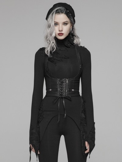 Punk Rave Black Gothic Punk Harness Accessories