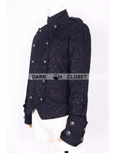Pentagramme Black Pattern Short Gothic Jacket for Men ... | 450 x 597 jpeg 42kB