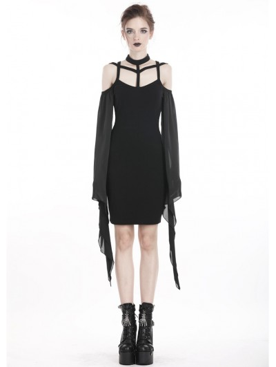 Dark in Love Black Fashion Gothic Sexy Harness Mini Dress
