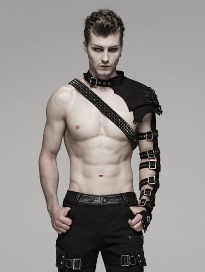 Punk Rave Black Gothic Punk Metal Armlet Shoulder for Men
