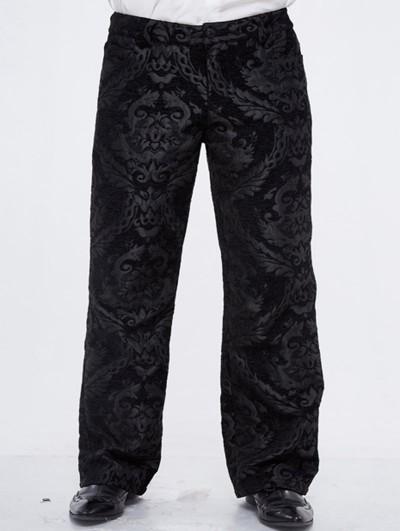 Devil Fashion Black Vintage Gothic Masquerade Party Long Trousers for Men