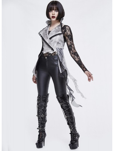 Devil Fashion Vintage Gothic Asymmetric Waistcoat for Women