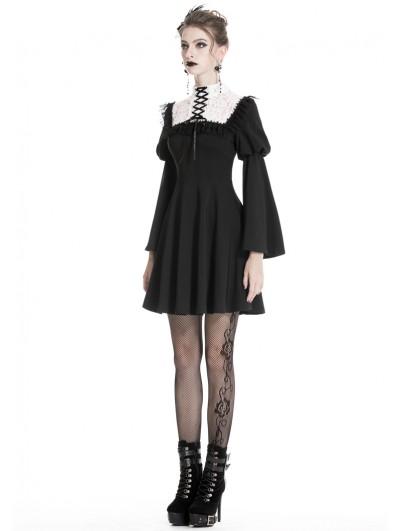 DARK IN LOVE Schools Out Dress Gothic Mini Kleid Minikrawatte Tie Shirt Dress