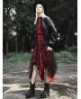 Punk Rave Red Fashion Street Gothic Chiffon Long Sleeve Asymmetric Dress