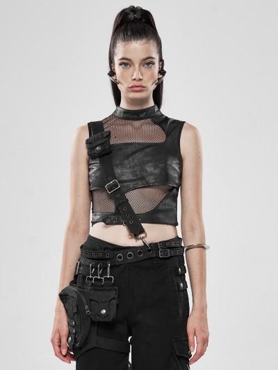 Punk Rave Black Gothic Punk Heavy Metal Waist Bag