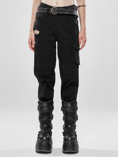 Punk Rave Black Gothic War-Dominated Punk Handsome Trousers for Women