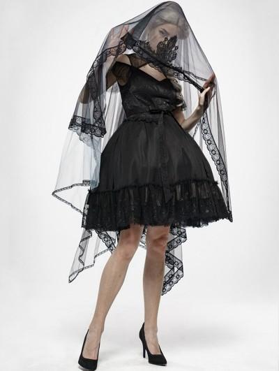 Punk Rave Gothic Zombie Bride Mesh Veil