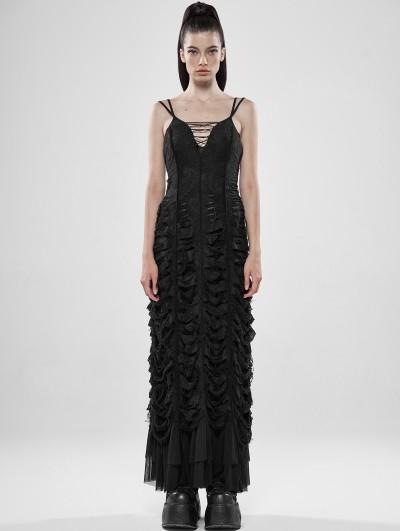 Punk Rave Black Sexy Gothic Diablo Long Dress