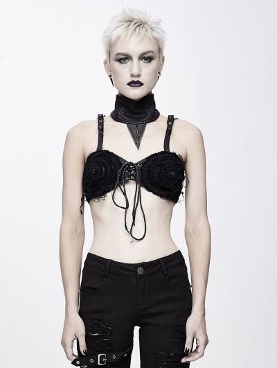 Devil Fashion Black Gothic Punk Sexy Lingerie Top