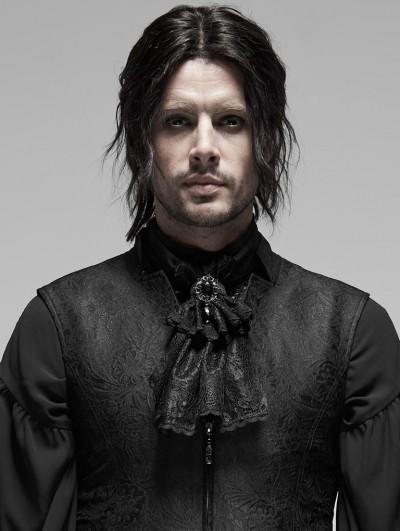 Punk Rave Black Vintage Gothic Rococo Victorian Necktie