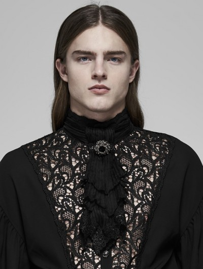 Punk Rave Black Vintage Gothic Rococo Gorgeous Lace Scarf