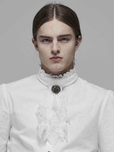 Punk Rave White Vintage Gothic Rococo Gorgeous Lace Scarf