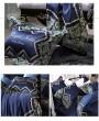 Blue Vintage Embroidery Comforter Set