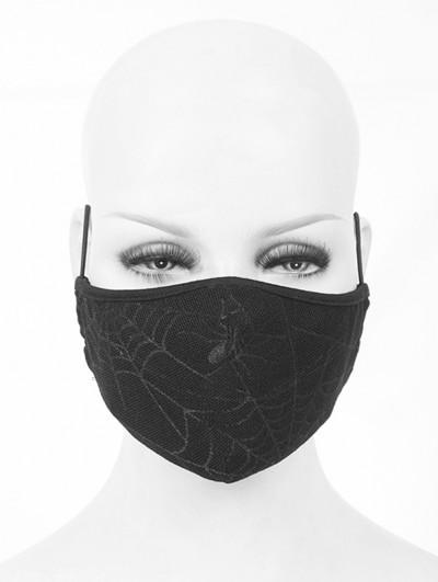 Devil Fashion Black Gothic Cobweb Unisex Mask