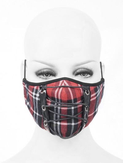 Devil Fashion Red and Black Gothic Punk Mask for Women