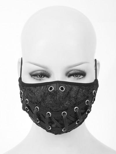 Devil Fashion Black Gothic Punk Lace-up Unisex Mask