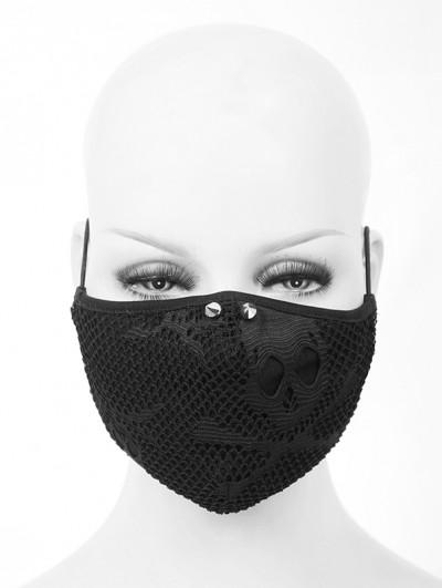 Devil Fashion Black Gothic Punk Rivet Unisex Mask