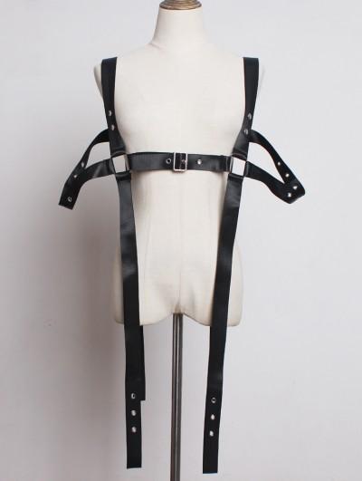 Black Fashion Gothic Punk PU Leather Belt Harness
