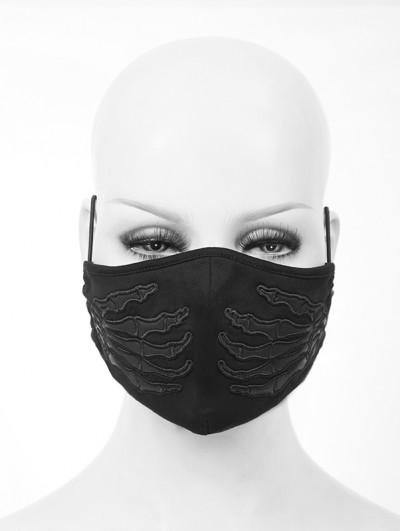 Devil Fashion Black Gothic Punk Skull Unisex Mask