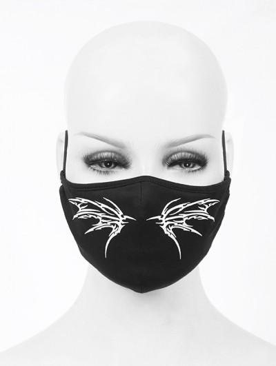 Devil Fashion Black Gothic Punk Pattern Unisex Mask