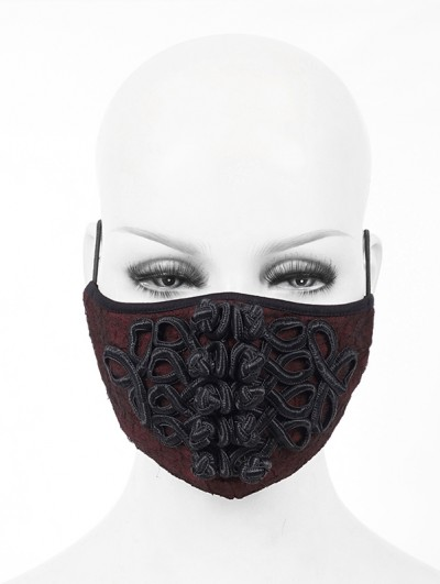 Devil Fashion Red and Black Vintage Gothic Mask for Women