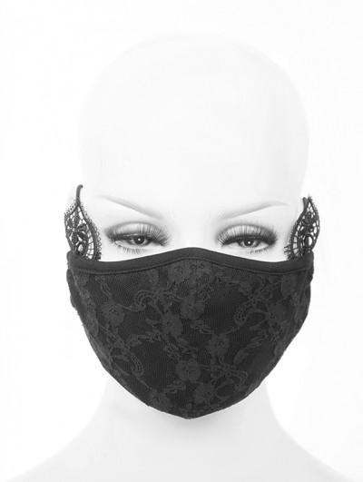 Devil Fashion Black Romantic Lace Gothic Mask for Women