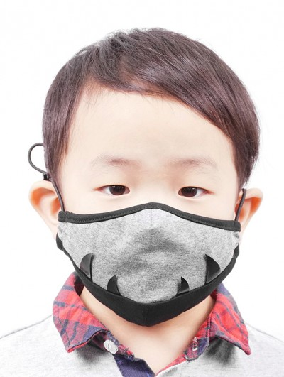 Devil Fashion Grey Crocodile Shape Mask for Children